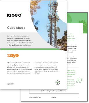 Zayo and IQGeo geospatial software implementation