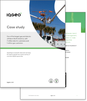 Electric utility and IQGeo geospatial software case study